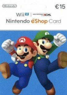 Carte Nintendo eShop 15€ cover